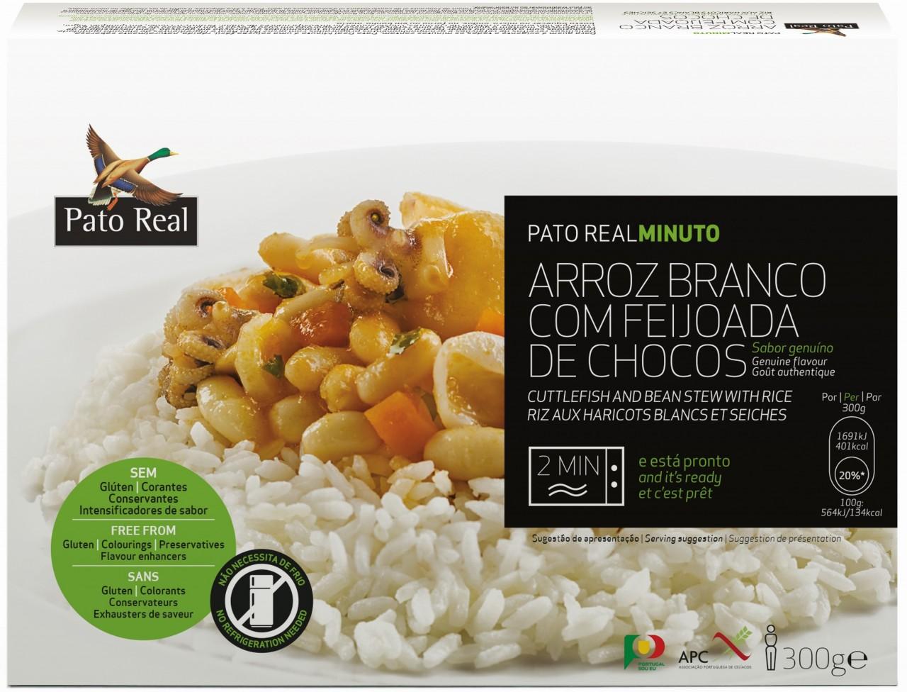 Reisgericht mit Tintenfisch - Arroz Branco com Feijoada de Chocos 300gr. - Pato Real