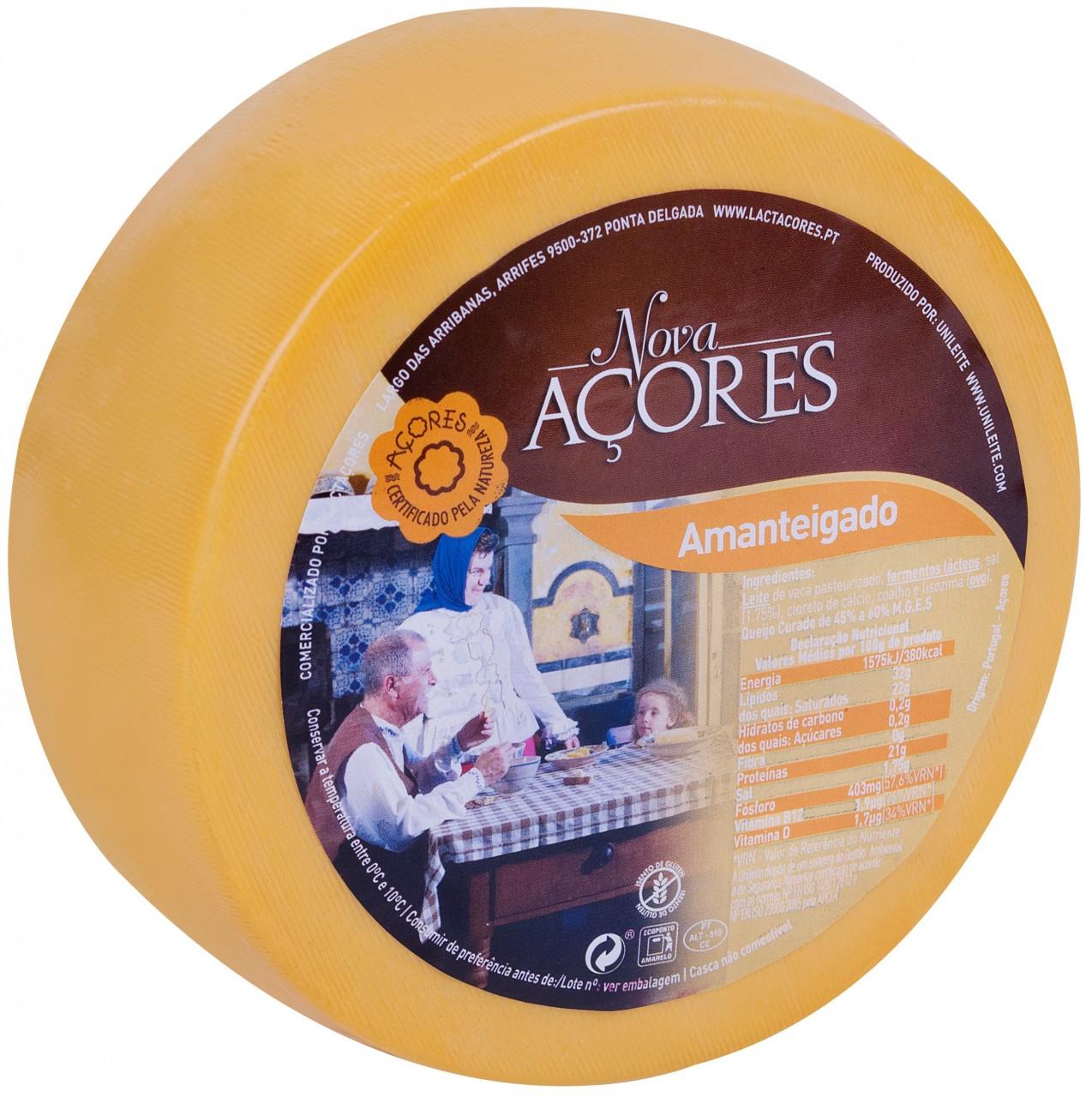 Queijo Amanteigado Nova Açores - Butterkäse 950 gr. - Azoren-Käse - Portugal