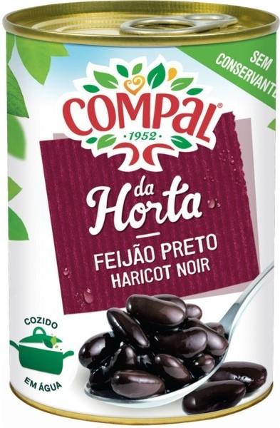 Schwarze Bohnen gekocht - Feijão Preto Cozido - Compal - Portugal