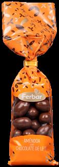 Glasierte Mandeln mit Milchschokolade - Amêndoas com Chocolate de Leite 160gr. - Portugal