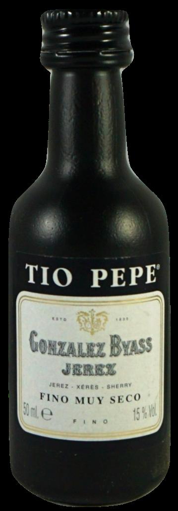 Sherry Fino Tio Pepe MINIATUR - Trockener Sherry - Jerez - Spanien