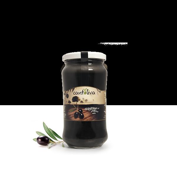 Schwarze Oliven mit Stein - Azeitona Preta inteira