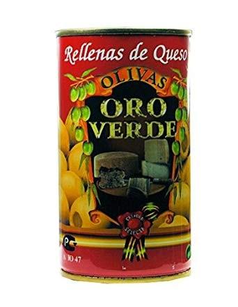 Oliven mit Käsepaste gefüllt - Aceitunas rellenas de Queso
