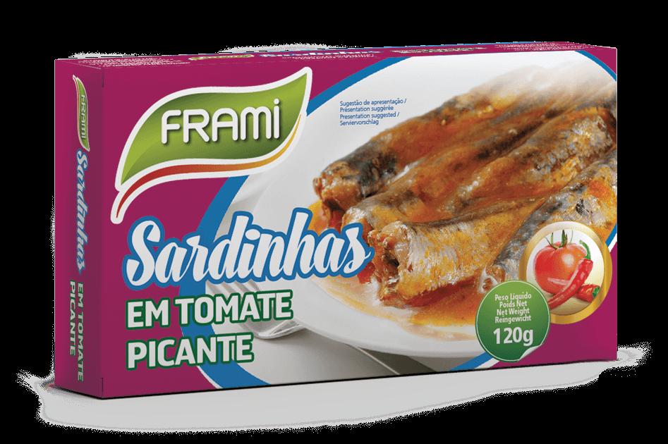 Sardinen in Tomatensauce Pikant- Sardinha em Tomate Picante Frami