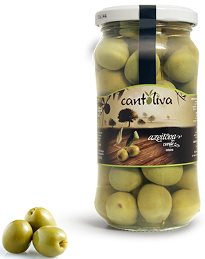 Grüne Oliven mit Stein - Azeitona Verde inteira