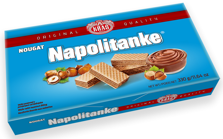Waffeln mit Nougatfüllung - Nougat Napolitanke - KRAŠ - Kroatien