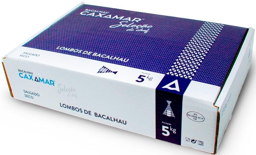Kabeljau-Lenden - Lombos de Bacalhau EXTRA 5 Kg - Caxamar - Portugal