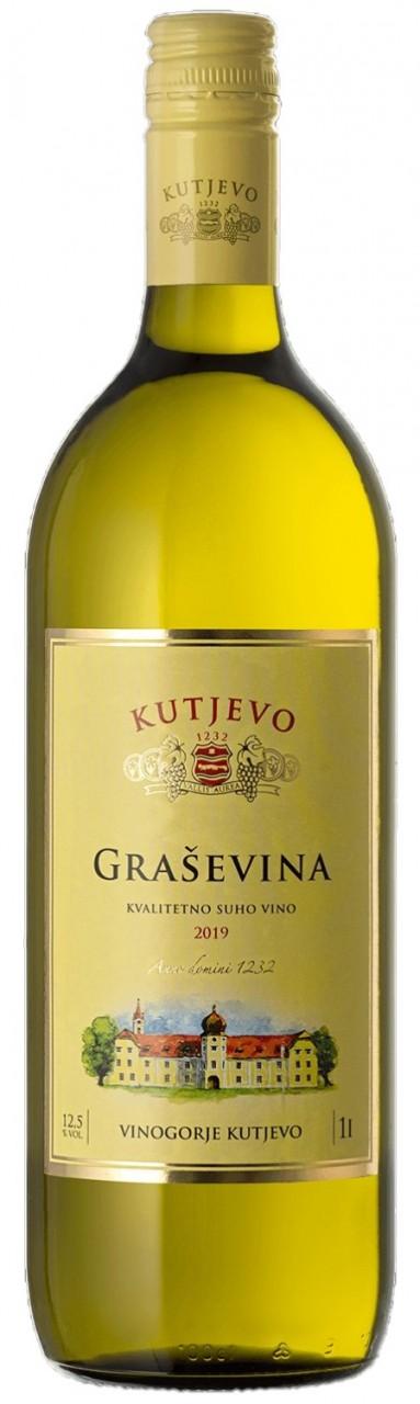 Kutjevo Graševina 1 Ltr. - Weißwein - Slavonien - Kroatien