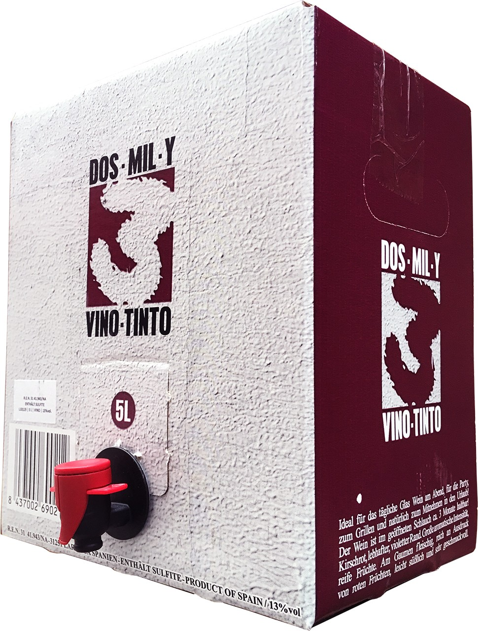 2003 - Dos Mil y Tres Tinto - Rotwein - Navarra - Spanien - 5 L Bag in Box