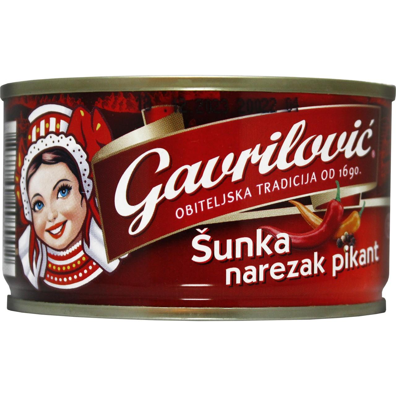 Gegartes gepökeltes Schweinefleisch Pikant - Sunka narezak pikant