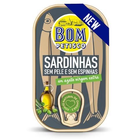 Sardinen ohne Haut ohne Gräten in Olivenöl-Sardinhas sem Pel sem Espinhas em Azeite Bom Petisco
