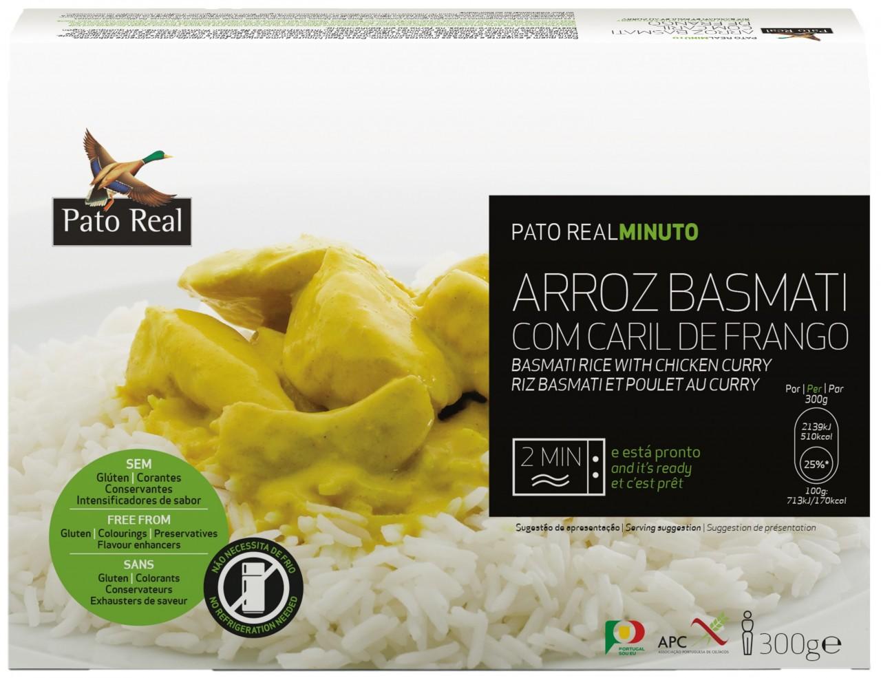 Basmatireis mit Hähnchen-Curry - Arroz Basmati com Caril de Frango 300gr. - Pato Real