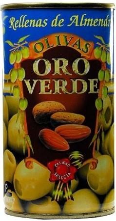 Oliven mit Mandelpaste gefüllt - Aceitunas rellenas de Almendra - Oro Verde - Spanien