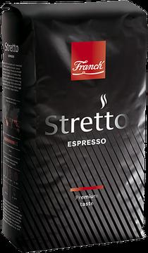 Röstkaffee Espresso Stretto - Kava Stretto Franck 1 Kg