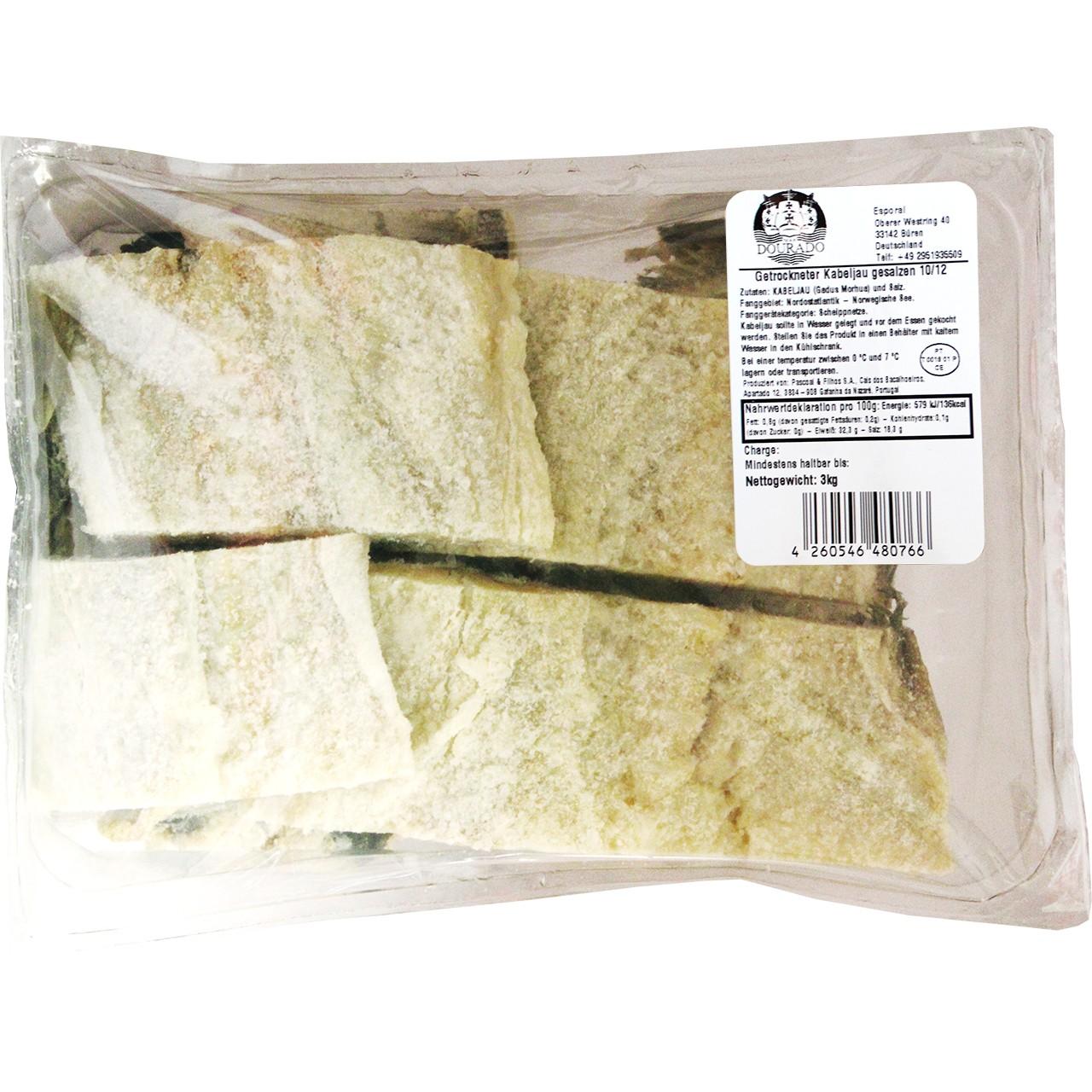 Bacalhau salgado - Getrockneter Kabeljau 3 Kg