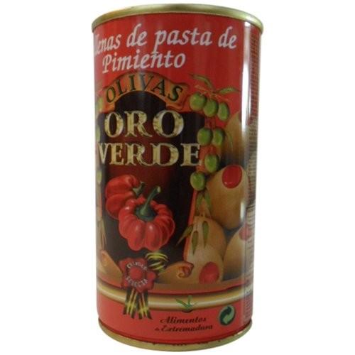 Oliven mit Paprikapaste gefüllt - Aceitunas rellenas de Pimiento