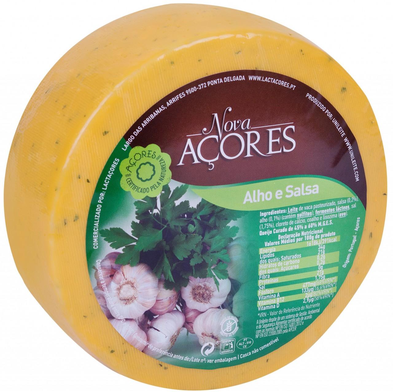 Queijo Alho e Salsa Nova Açores-Kuhkäse mit Knoblauch und Petersilie 950gr.-Azoren-Käse - Portugal