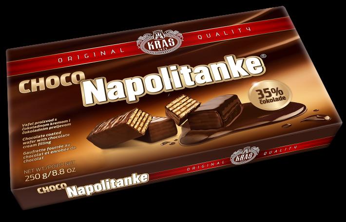 Waffeln mit Schoko - Choco Napolitanke - KRAŠ - Kroatien