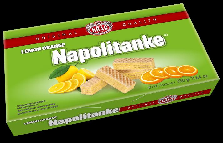 Waffeln mit Zitrone-Orangefüllung - Lemon Orange Napolitanke
