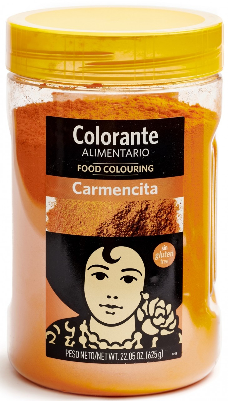 Carmencita Lebensmittelfarbpulver(Safranersatz)-Colorante Alimentario 625 gr.