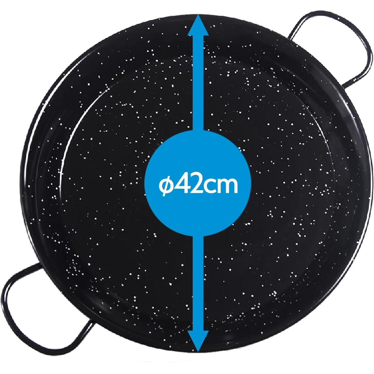 Paellapfanne Emailliert 42cmØ