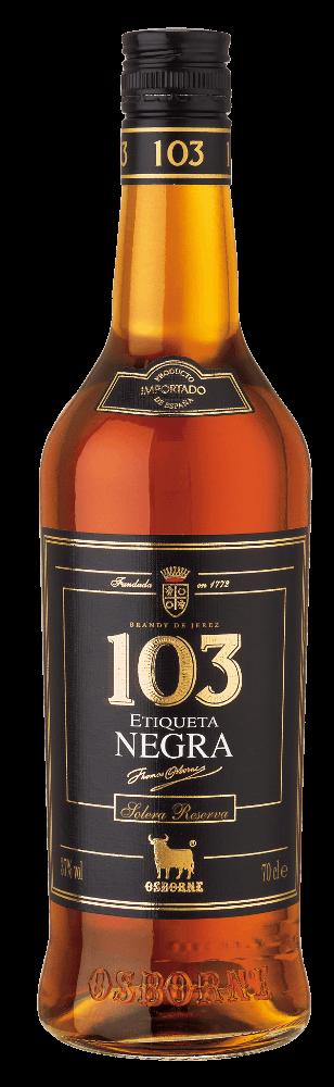 Brandy 103 Etiqueta Negra Solera Reserva