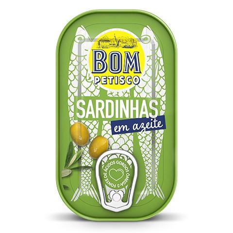 Sardinen in Olivenöl - Sardinhas em azeite Bom Petisco 120gr. - Portugal