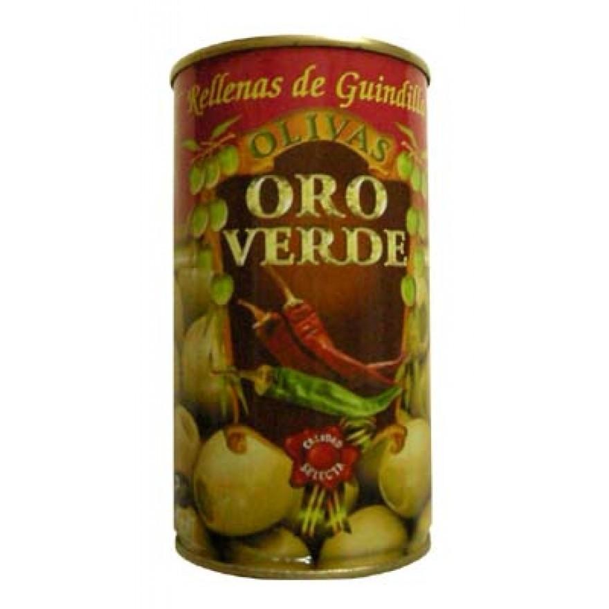 Oliven mit Pepperonipaste gefüllt - Aceitunas rellenas de Guindilla