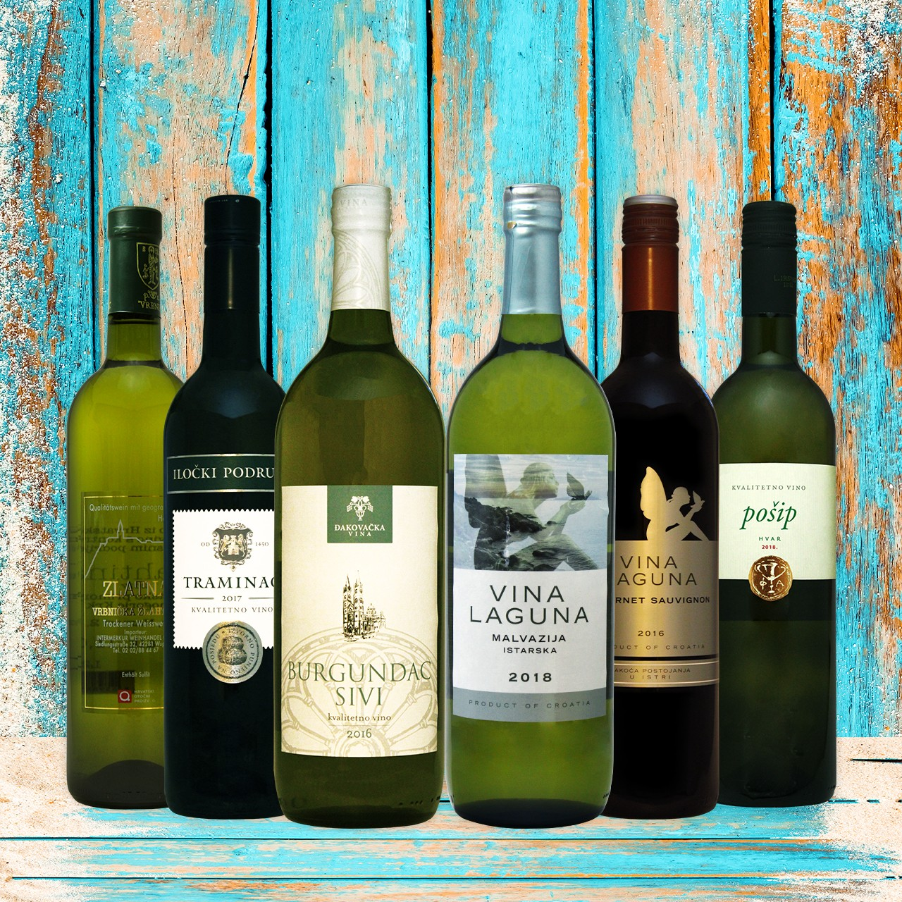 Weißwein - Probierbox Kroatien