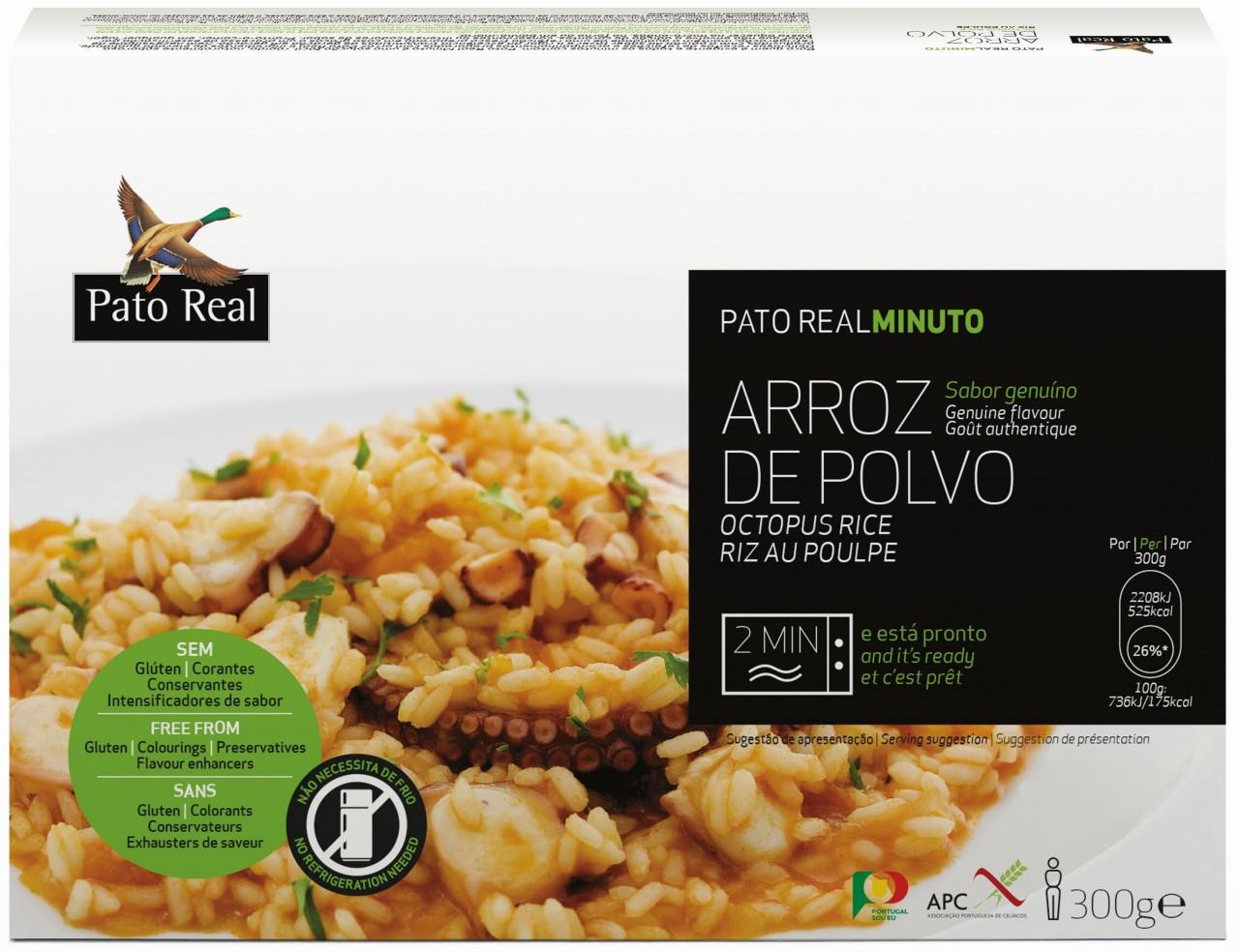 Reisgericht mit Oktopus - Arroz de Polvo 300gr. - Pato Real - Portugal