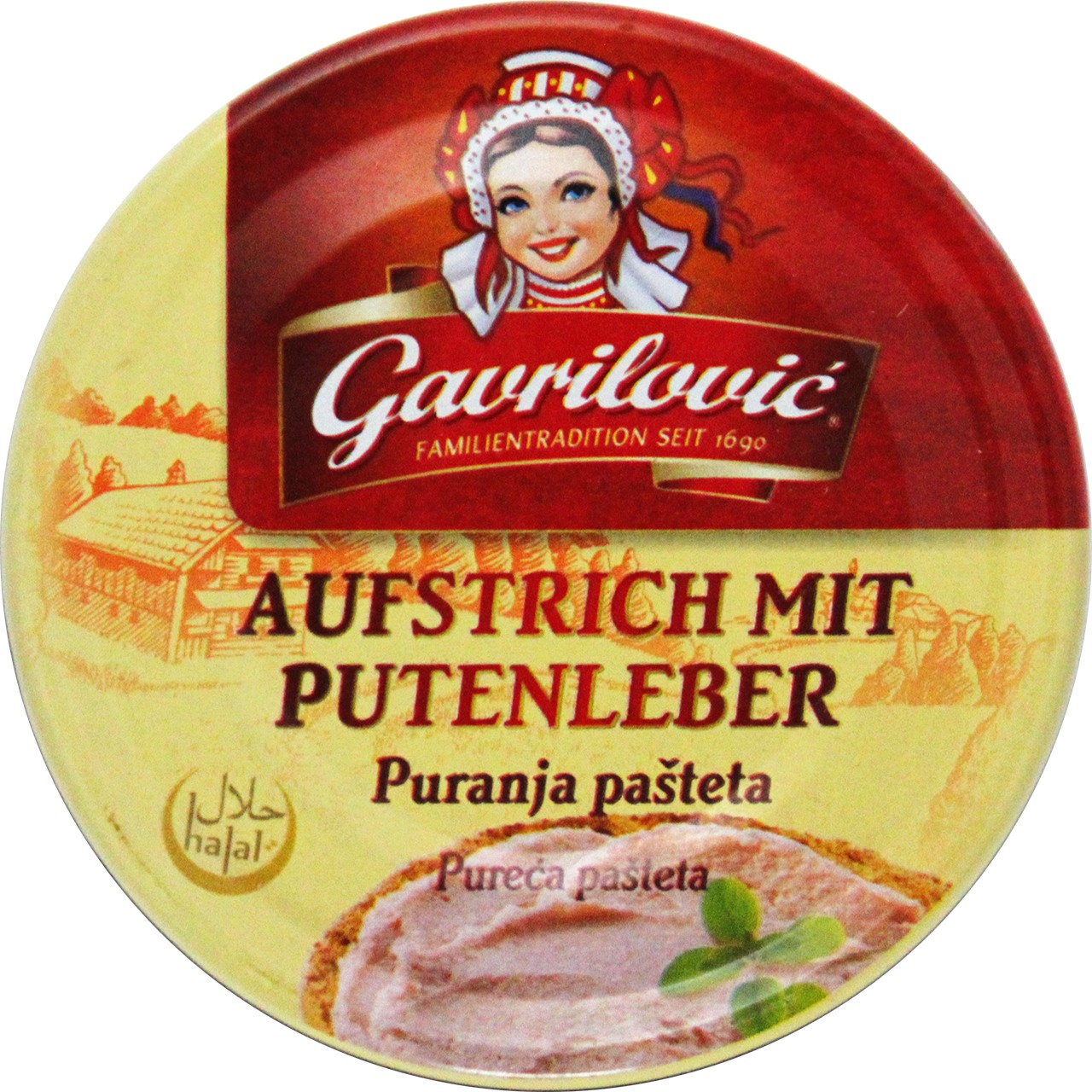 Teewurst Pastete Pute - Pureća pašteta - Gavrilovic - Kroatien