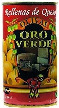 Oliven mit Käsepaste gefüllt - Aceitunas rellenas de Queso - Oro Verde - Spanien