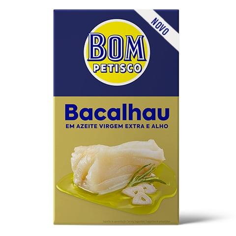 Kabeljau in extra nativem Olivenöl und Knoblauch -Bacalhau em Azeite Virgem Extra e Alho Bom Petisco
