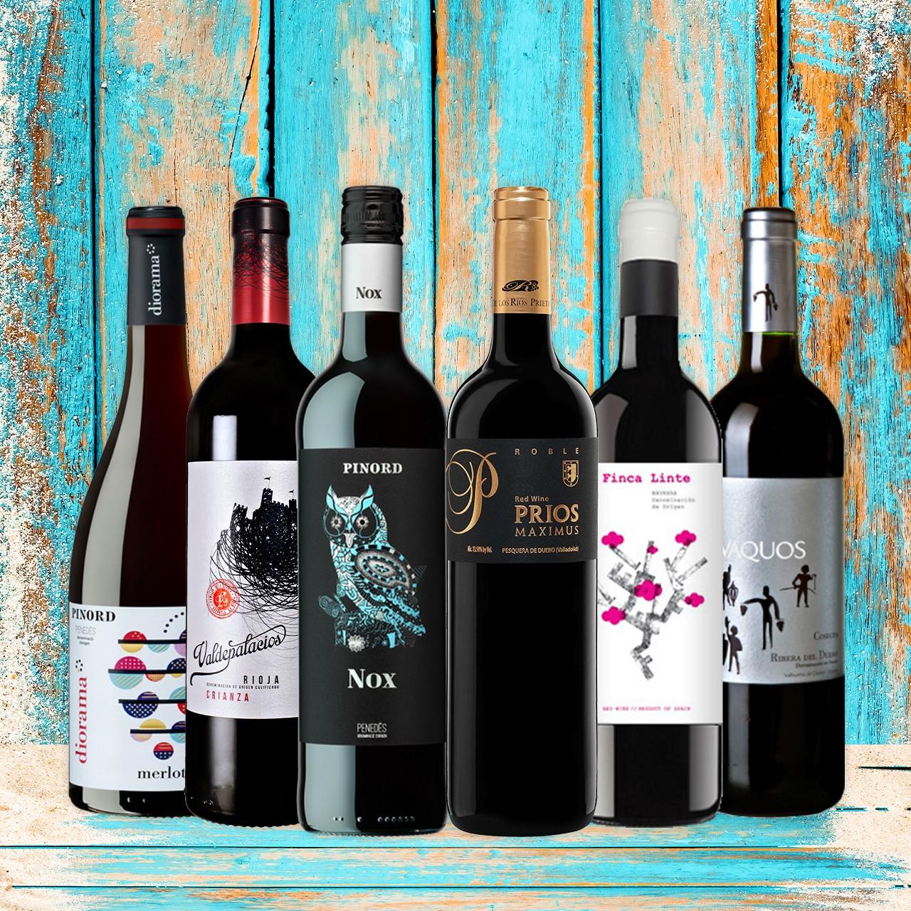 Rotwein - Probierbox Spanien