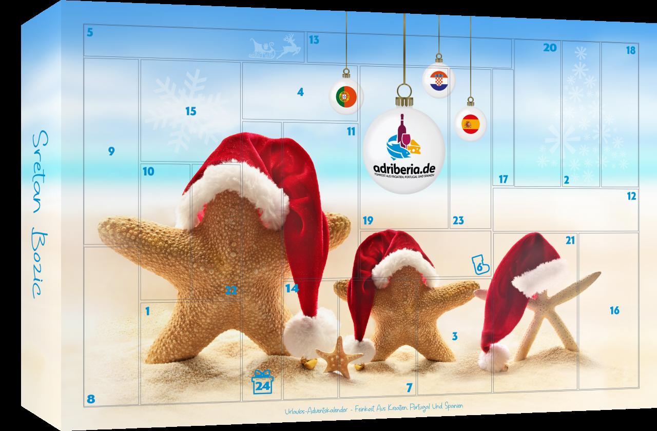Urlaubs-Adventskalender - Feinkost-Kalender aus Kroatien, Portugal und Spanien