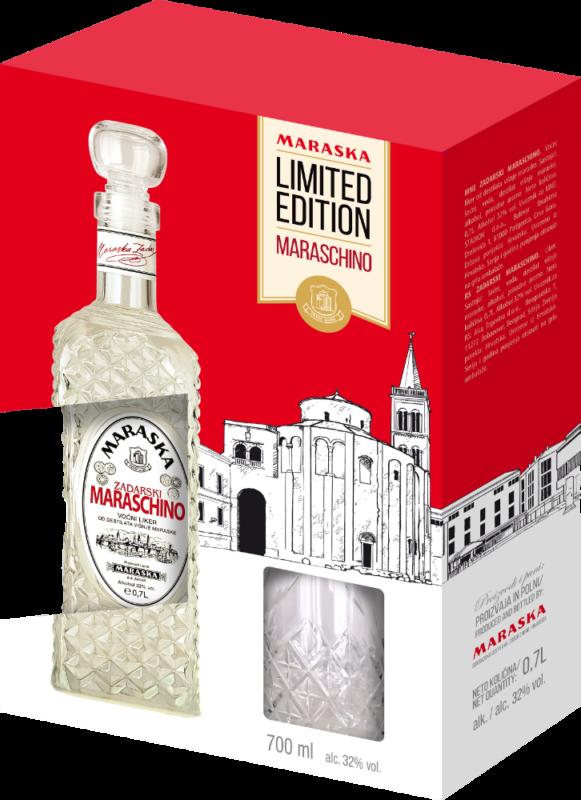 Maraschino Likör Geschenkbox + 1 Glas - Kirschlikör - Kroatien