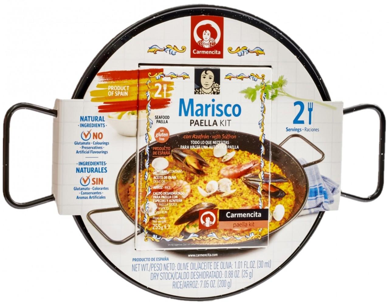 Paella KIT für 2 Personen - Pfanne und Zutaten für eine Original spanische Paella