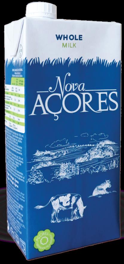 Leite Gordo Nova Açores 1 Liter - Pasteurisierte Vollmilch - Azoren - Portugal
