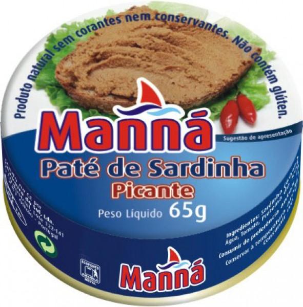 Sardinenpaste Pikant - Paté de Sardinha Picante - Manna - Portugal
