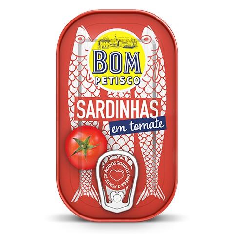Sardinen in Tomatensauce - Sardinhas em tomate Bom Petisco 120gr. - Portugal