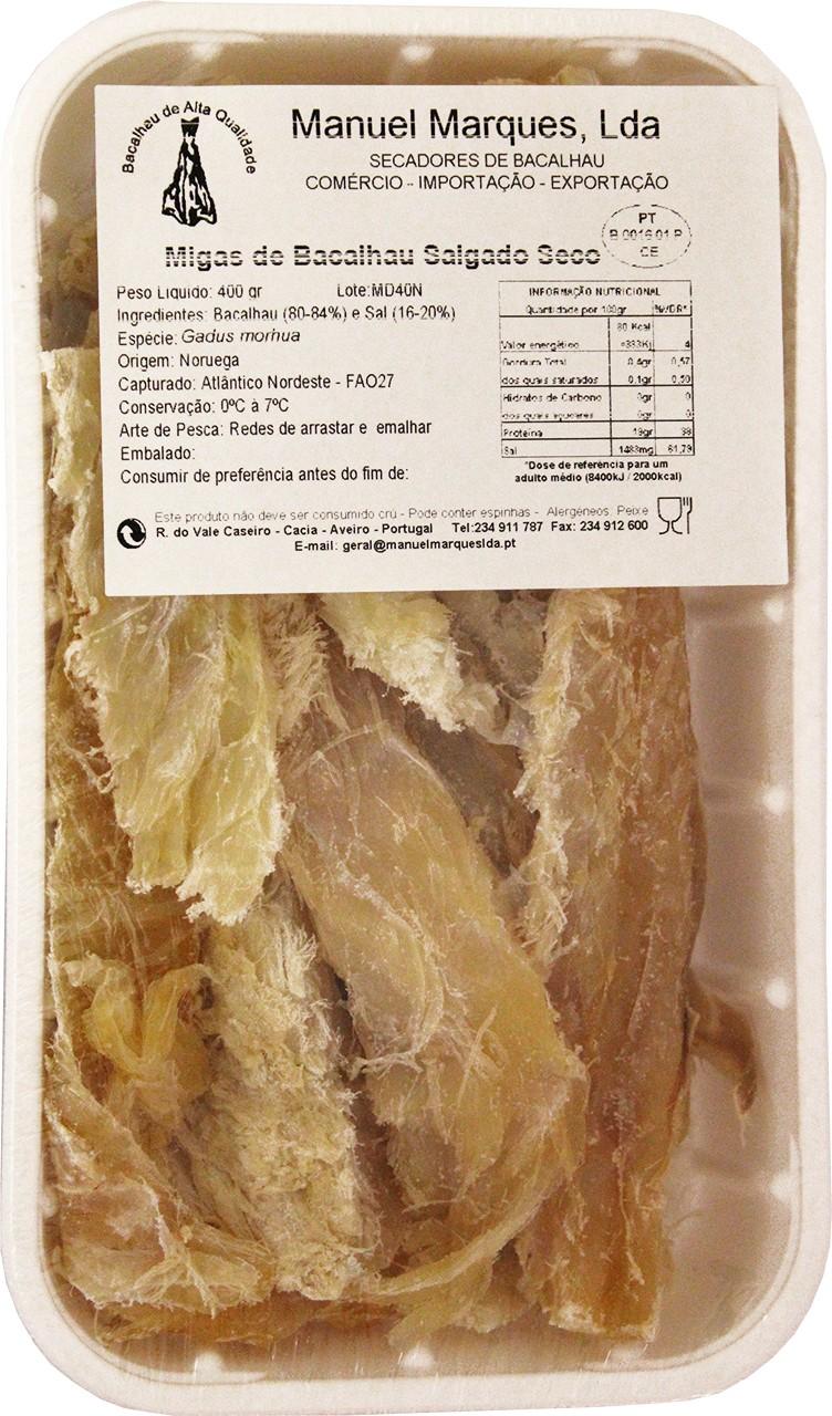 Getrocknete Kabeljaustreifen - Migas de Bacalhau 400 gr. Manuel Marques