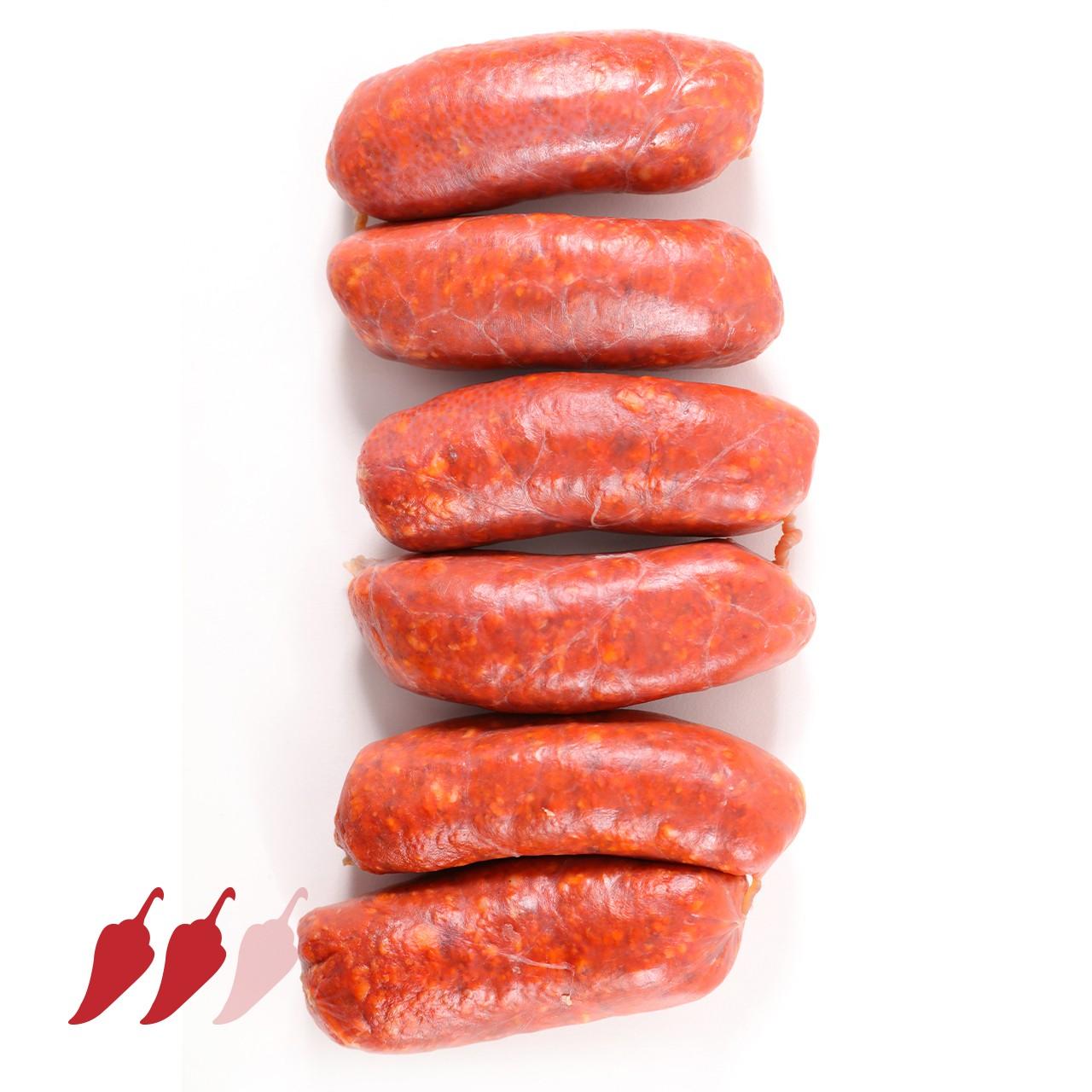 Chorizo Serranitos Picantes - frische Paprikawürstchen