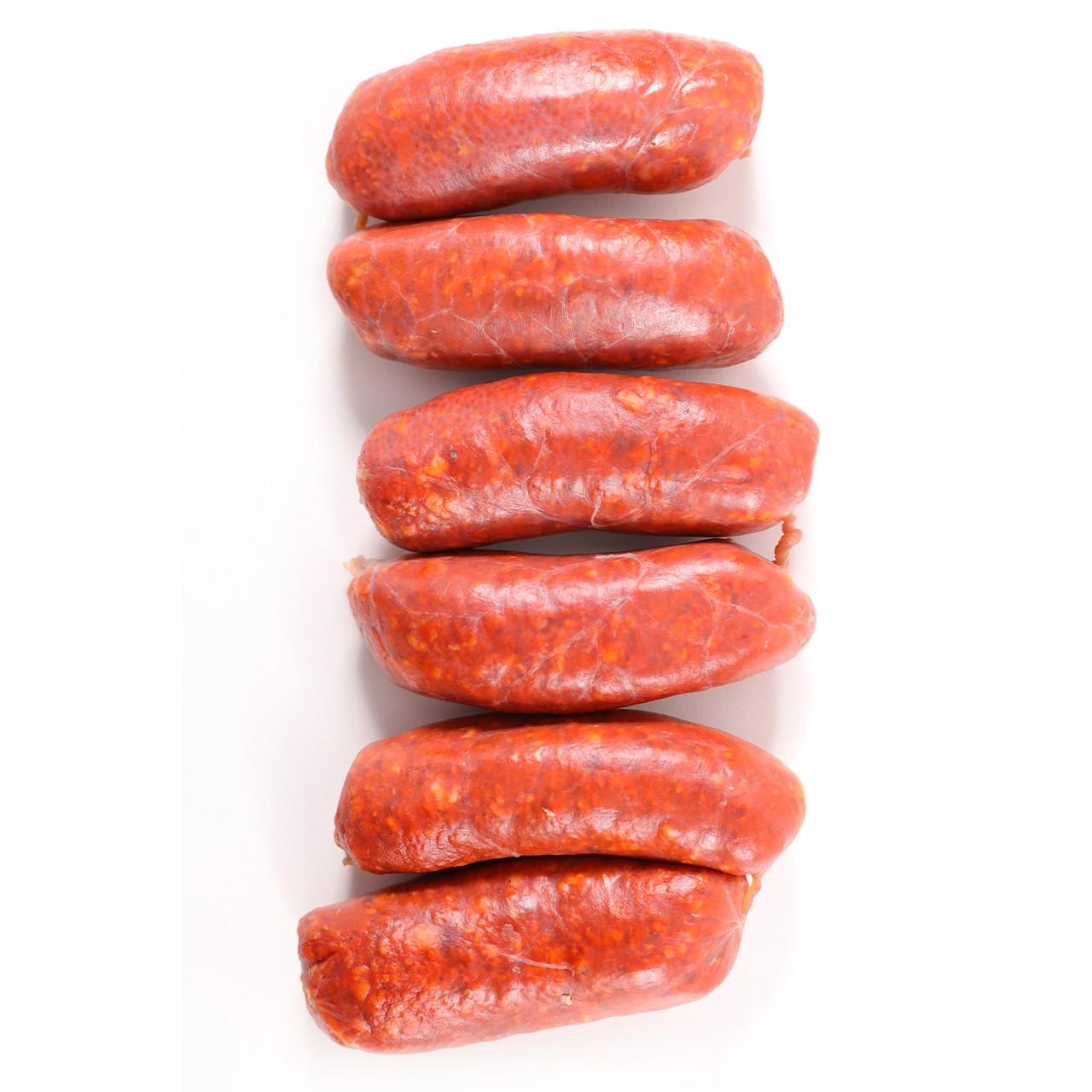 Chorizo Serranitos Dulce 6er - frische Paprikawürstchen 6er - Spanien