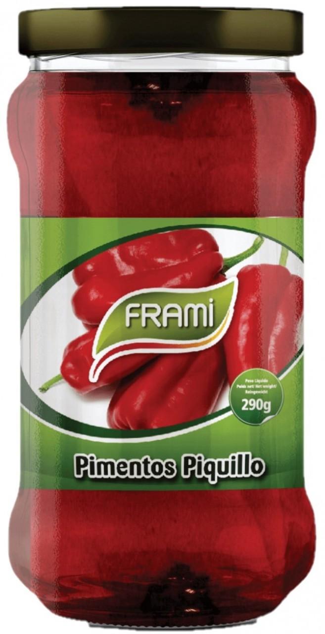 Pimentos Piquillo 290gr. - Eingelegte Röstpaprika - Frami - Portugal