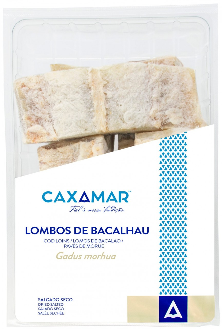 Kabeljau-Lenden - Lombos de Bacalhau EXTRA 1,8 Kg - Caxamar - Portugal