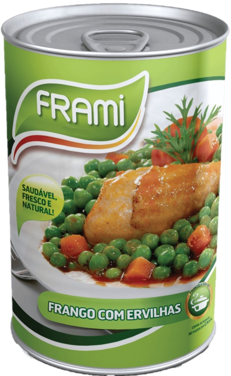 Frango com Ervilhas 425gr. - Hähnchen mit Erbsen - Fertiggericht - Frami - Portugal