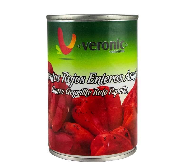 Ganze gegrillte Rote Paprika - Pimientos Rojos Enteros Assados