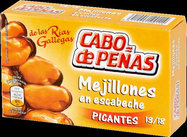 Miesmuschel in Marinade Pikant - Mejillones en Escabeche Picante - Cabo de Peñas - Spanien
